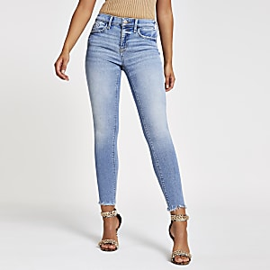 Amelie - Lichtblauwe superskinny jeans