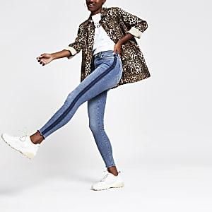 Mid blue Harper super skinny jeans