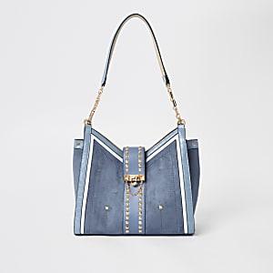 Blauwe ruime tas met studs