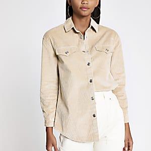 Beige cord shirt