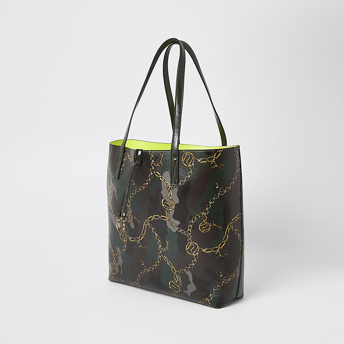 538b52192058 Khaki camo shopper tote bag