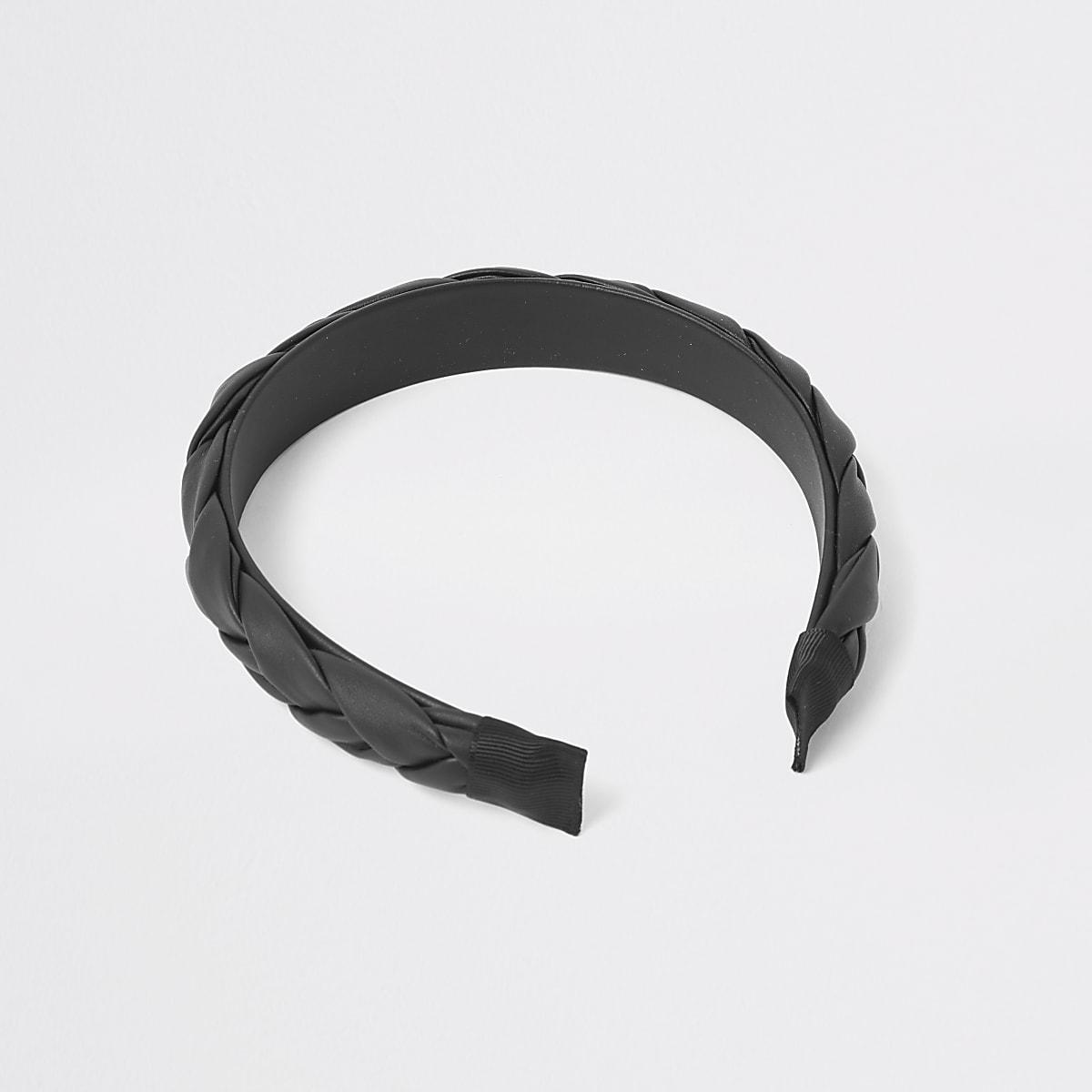 Black plait headband