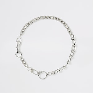 Silver color chain necklace