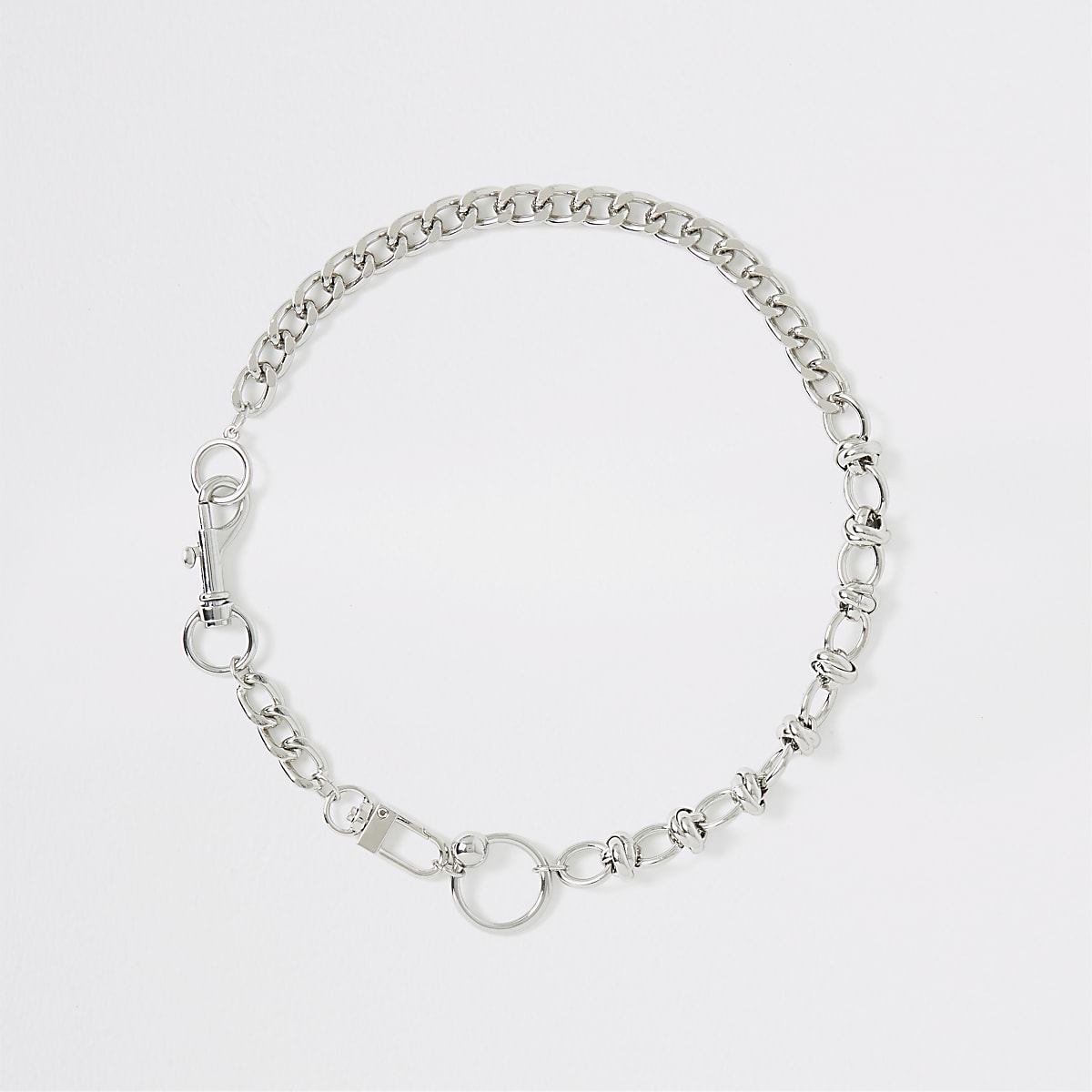 Silver colour chain necklace