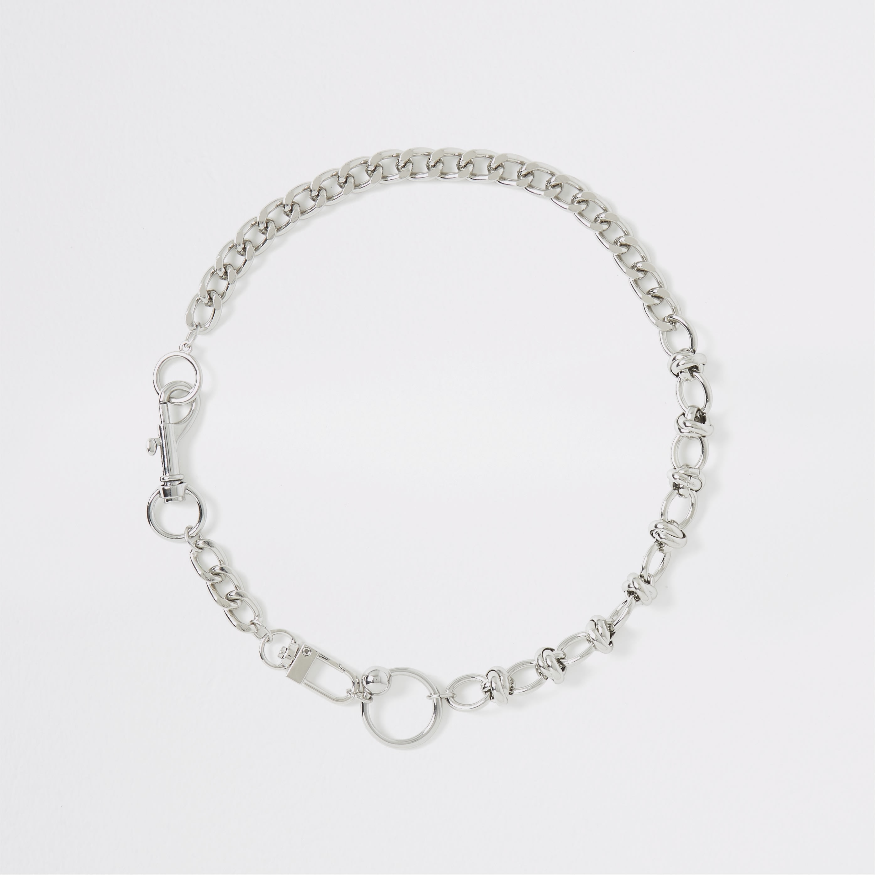 RIVER ISLAND | Womens Silver Colour Chain Necklace | Goxip