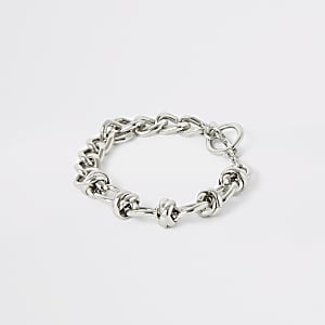 Silver colour chain bracelet