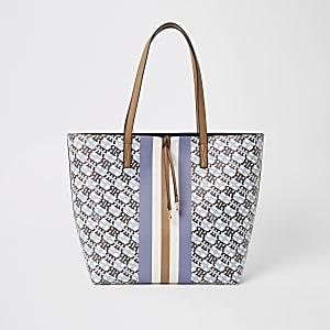 Blaue Shopper-Tasche