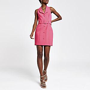 Pinkes Utility Bodycon-Kleid