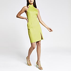 Bodycon-Kleid in Limettengrün