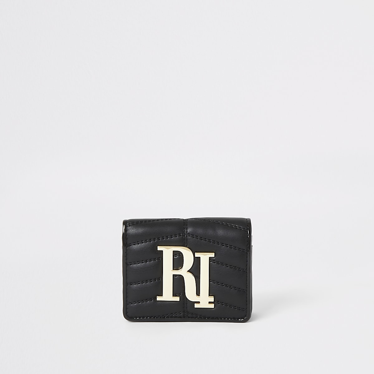 Black quilted RI foldout purse