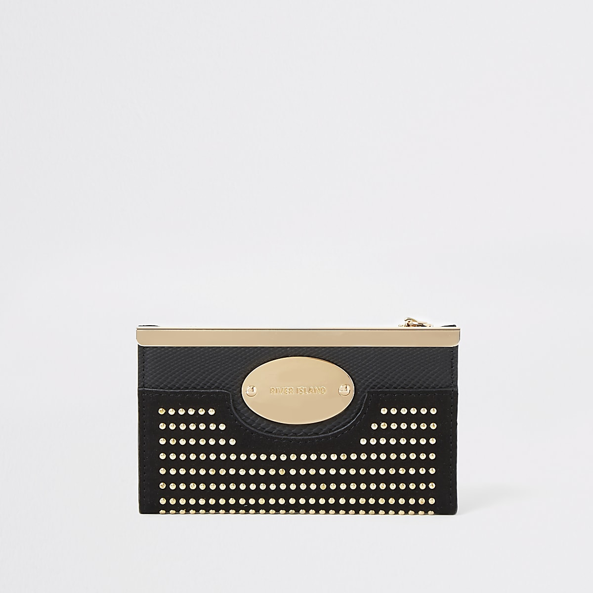 Black studded mini fold out purse