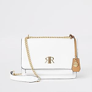 Witte onderarmsatchel met RI-logo