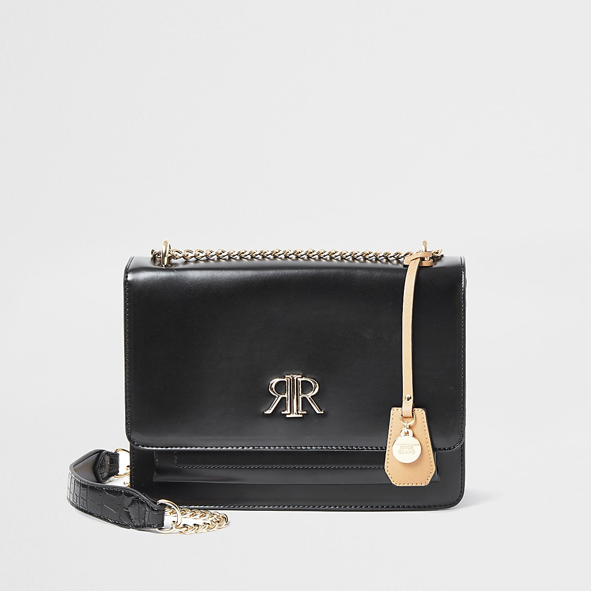 Zwarte onderarmsatchel met RI-logo