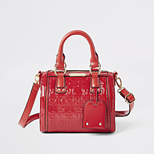 Red RI monogram bowler bag