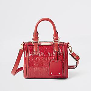 Rote Tasche mit RI-Monogramm