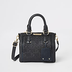 Black RI monogram bowler bag