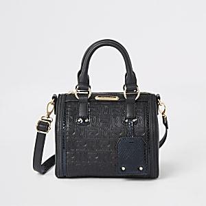 Schwarze Tasche mit RI-Monogramm