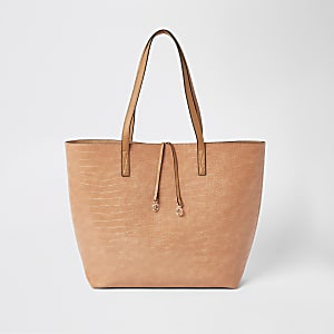 Strandtasche in leuchtendem Orange