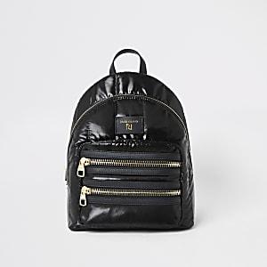 Black padded soft backpack