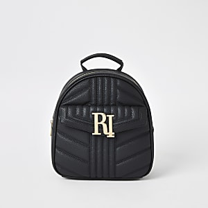 Black quilted RI backpack