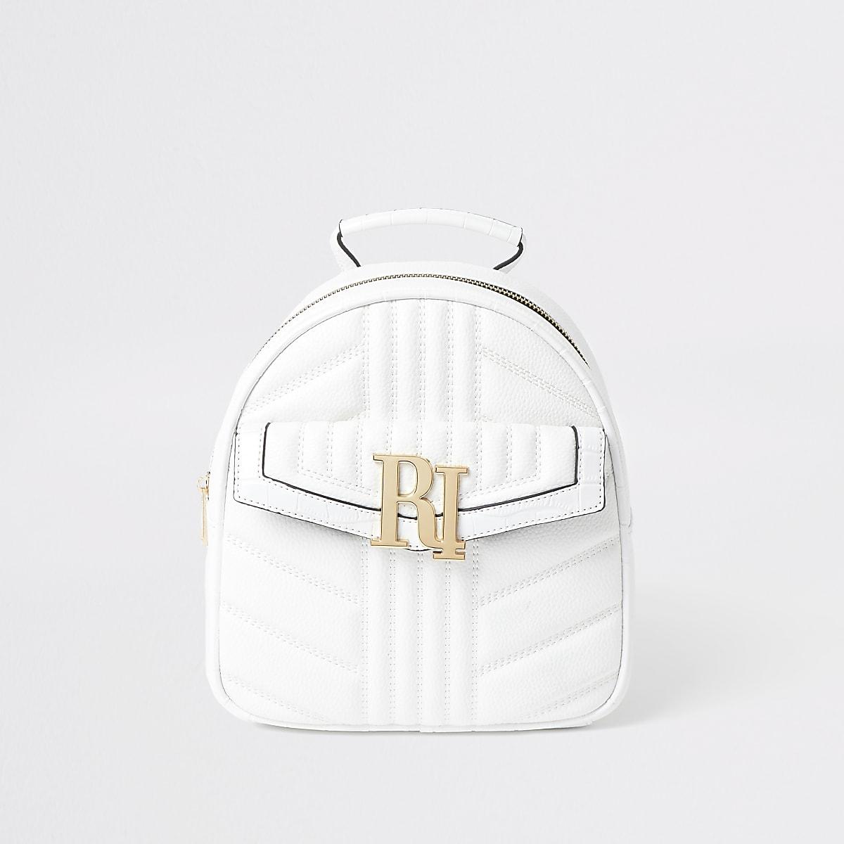 Weißes, gesteppter Rucksack