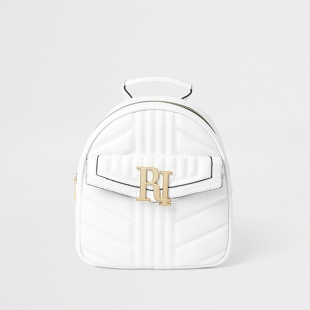 White quilted RI backpack