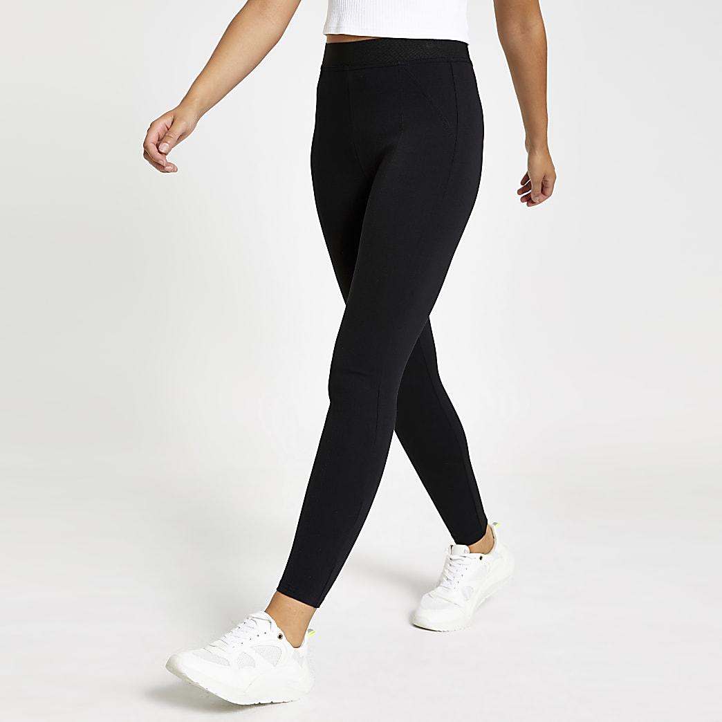 Zwarte skinny legging met elastische taille