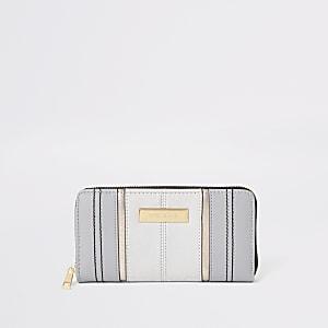Grijze portemonnee met rits rondom