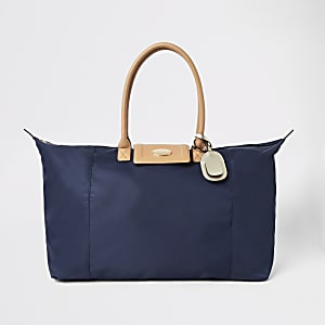 Navy soft RI weekend travel bag