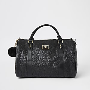 Black RI print travel bag