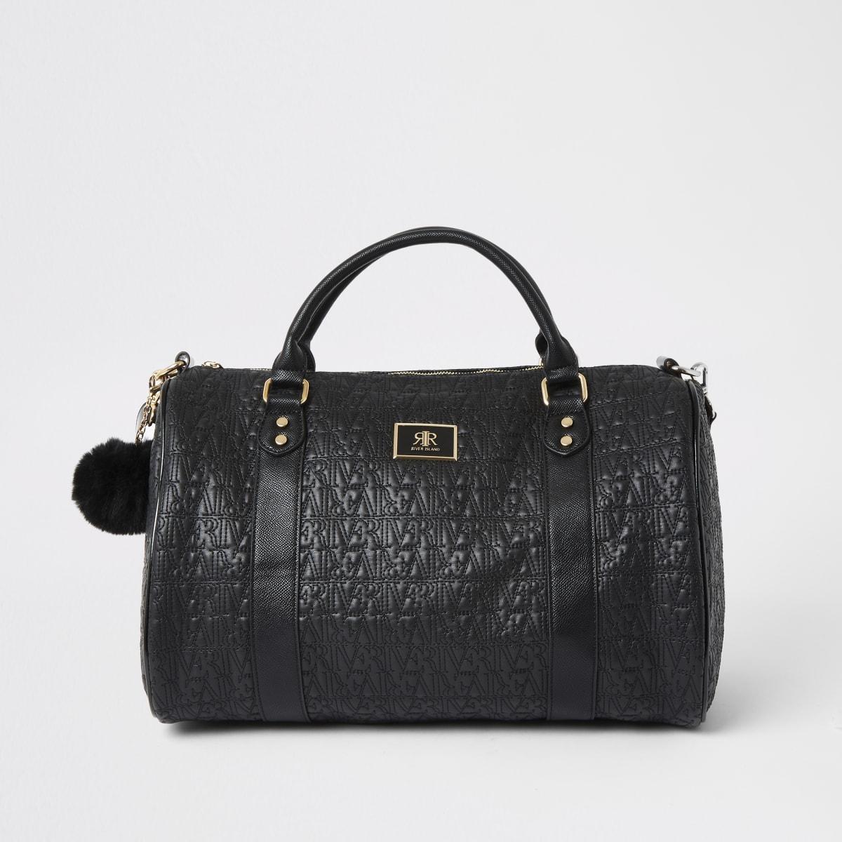 Black RI print travel bag