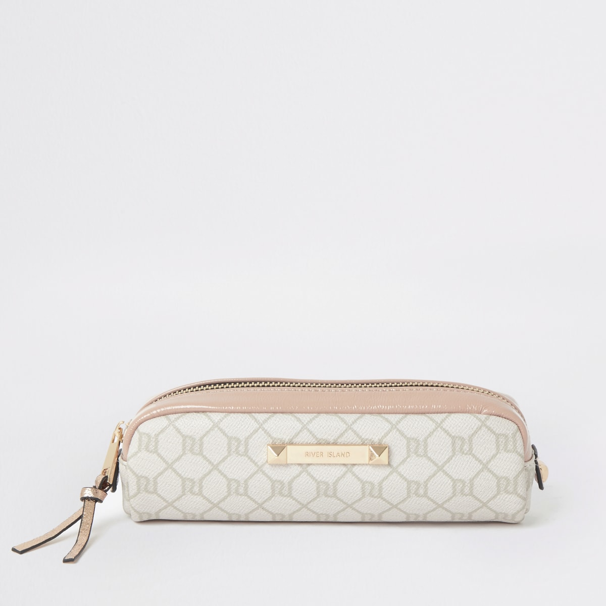 Light pink RI Monogram small makeup bag