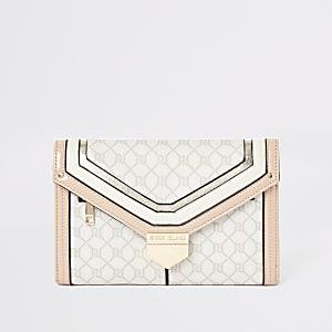 Portefeuille de voyage rose clair avec logo RI