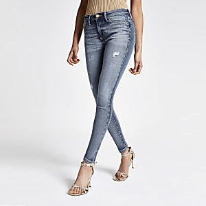 Molly - Middenblauwe jegging