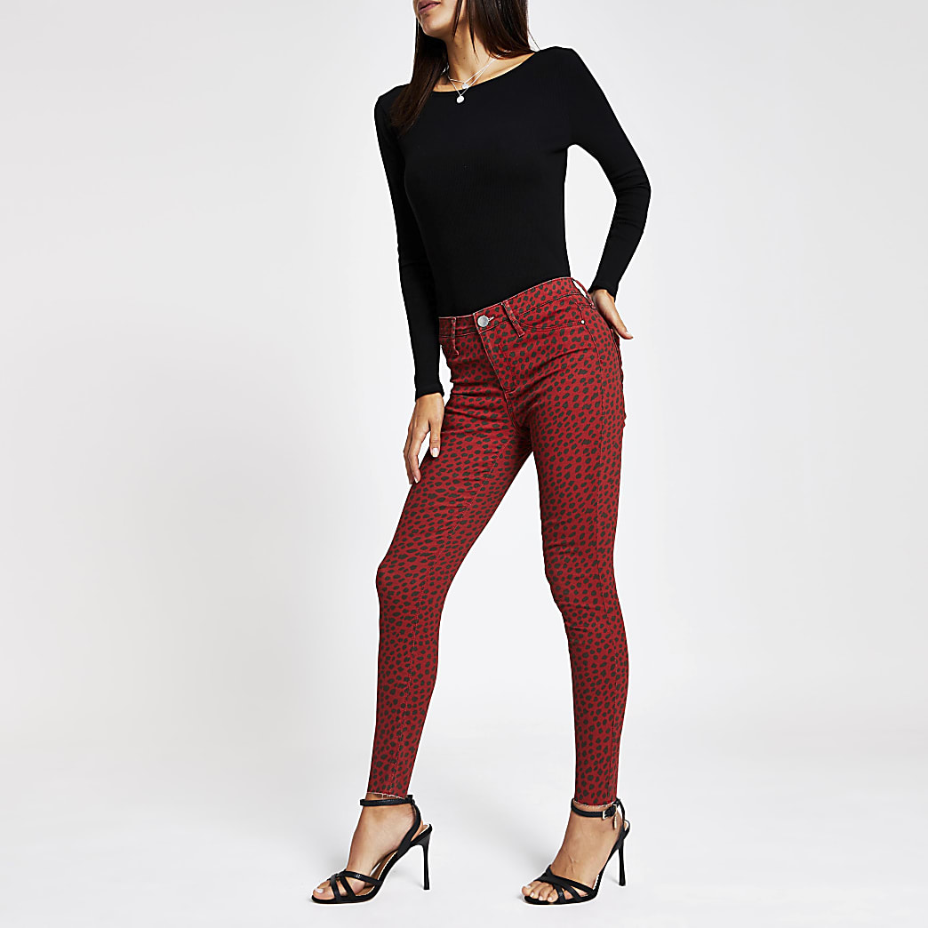 Red Molly leopard print jeggings