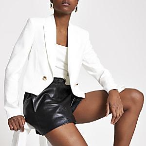 Witte cropped blazer