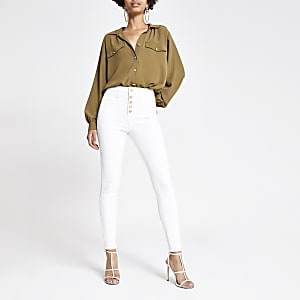 White Hailey high rise jeans