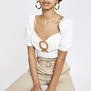 ca9a9d994bf8a9 Crop Tops | Bralette | White Crop Tops | River Island