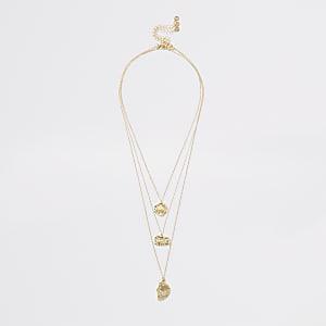Strukturierte, mehrreihige Halskette