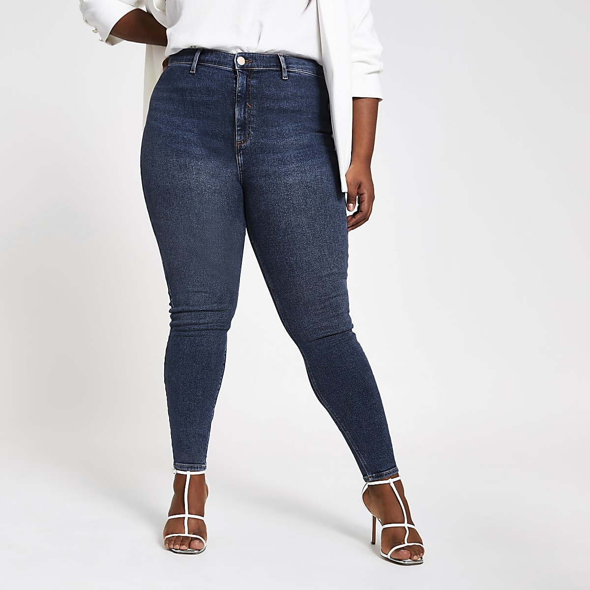 Plus blue denim Kaia high waist disco jeans