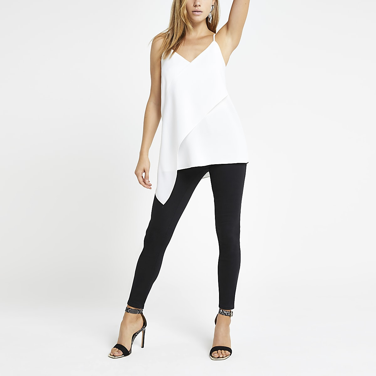 White frill cami top