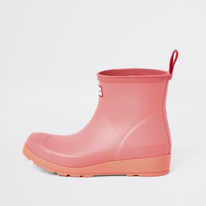 Hunter Original pink short wellington boots