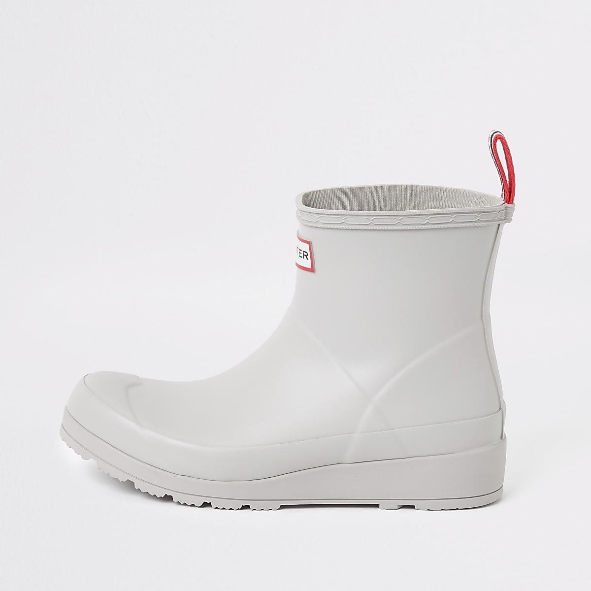 Hunter Original grey short wellington boots