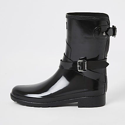 Hunter Original black short wellington boots