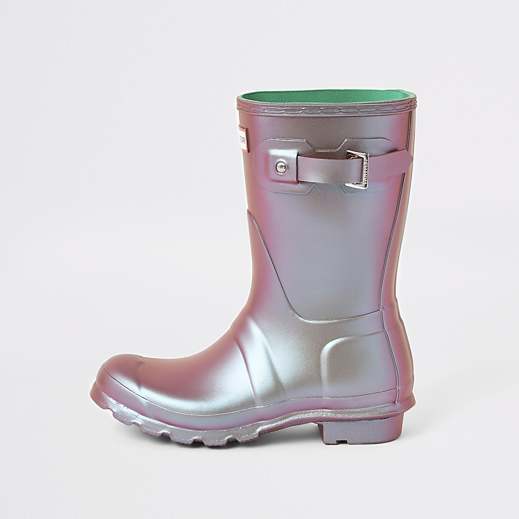 Hunter Original green wellington boot