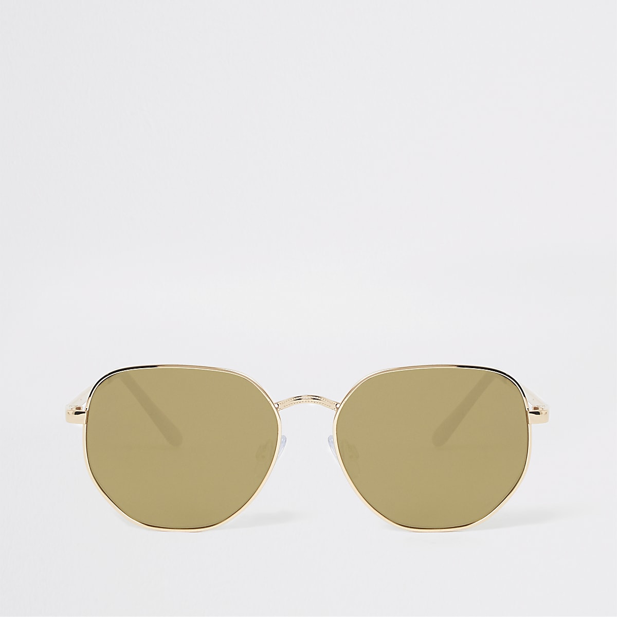 Gold colour frame hex sunglasses