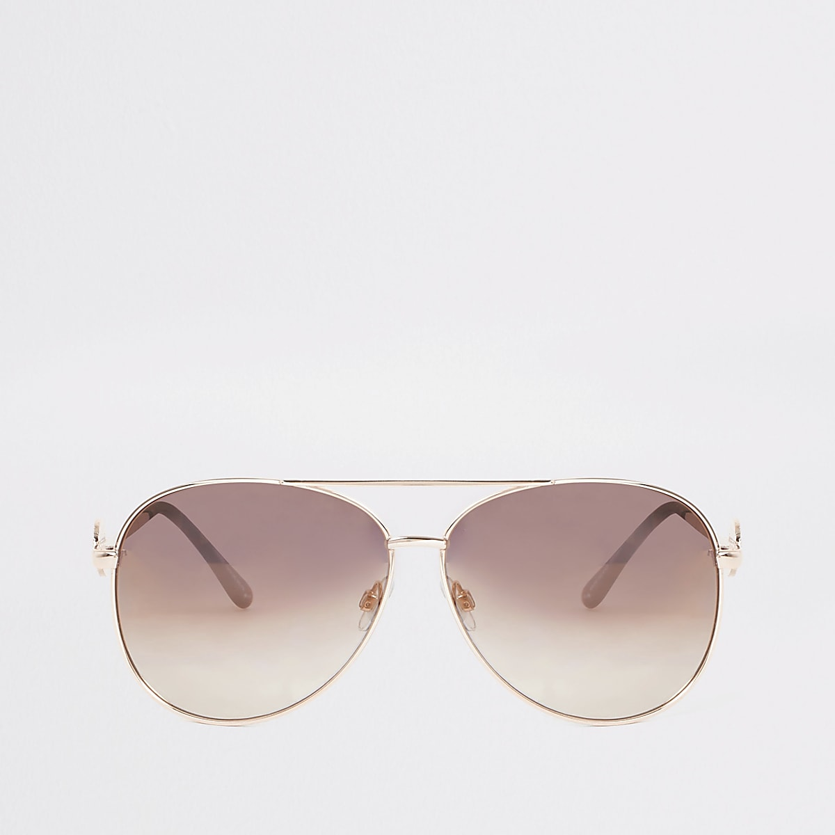 Gold tone lion head sunglasses