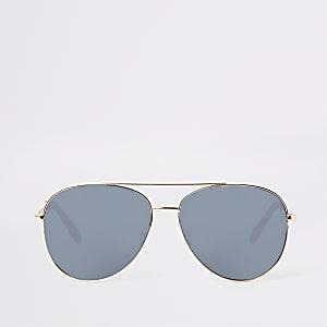 Goldfarbene Pilotensonnenbrille