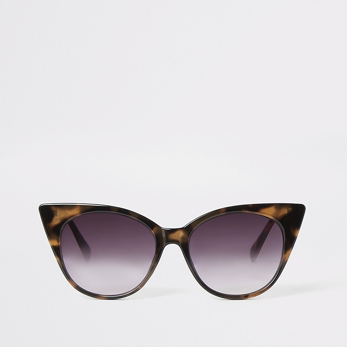 Brown tortoise cat eye sunglasses