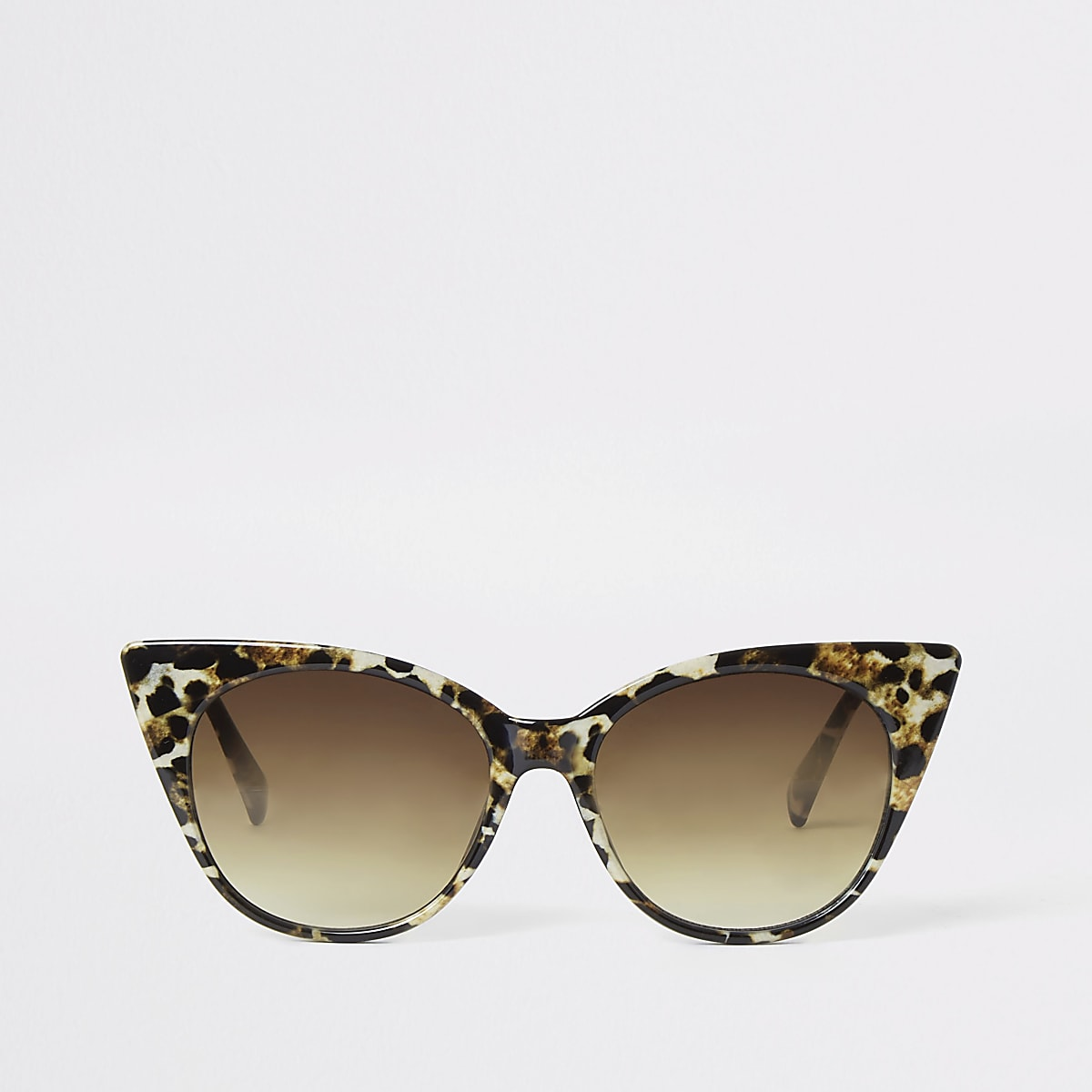 Brown leopard print cat eye sunglasses